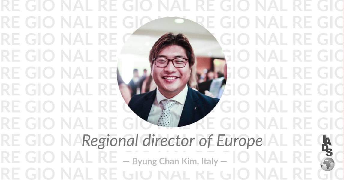 The Regional Director of Europe for the current term 2018/2019.