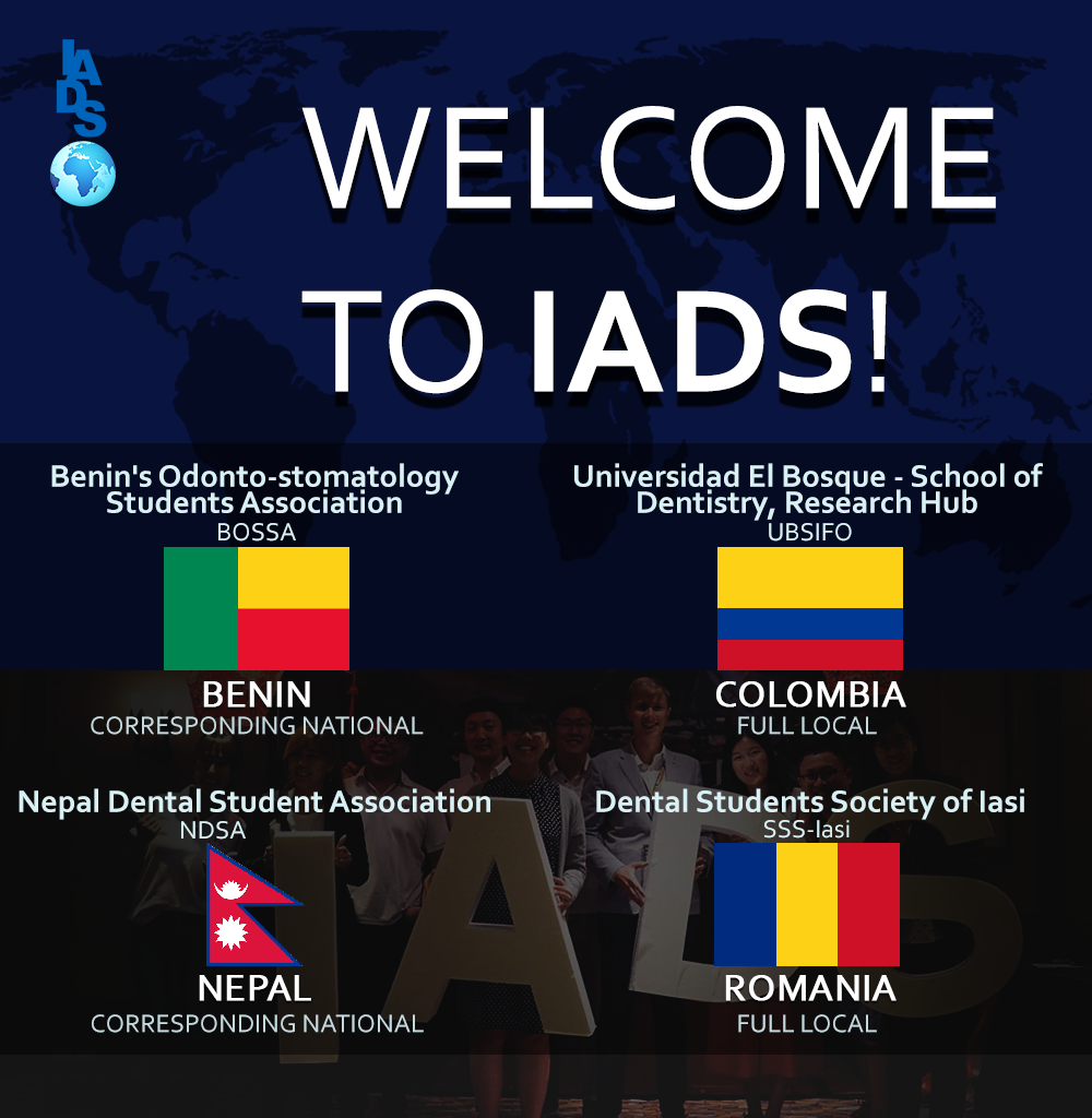 Congratulation to the new IADS Members