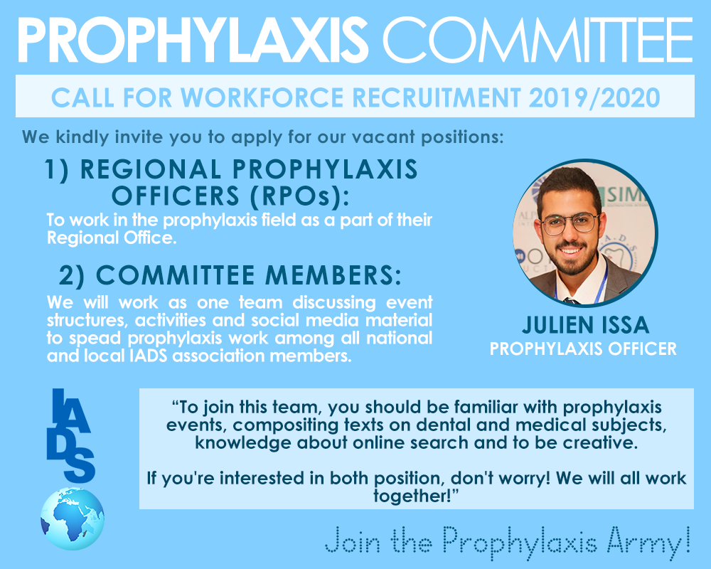 Join the Prophylaxis Office 2019/2020