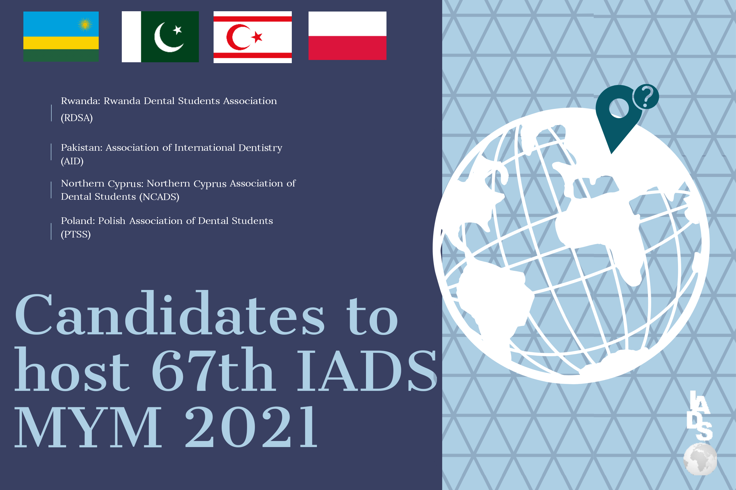 Candidates to host 6th IADS MYM 2021